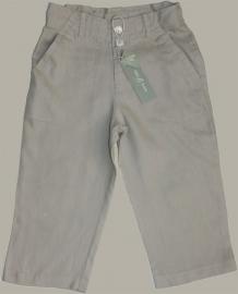 Little Linens 'Wheat' zand linnen lange broek - maat 146 - LL25