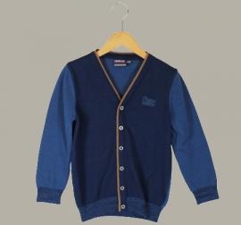 Vinrose vest 'Barry' Olympian Blue (donkerblauw/ indigo) - maat 146/152 - VR69