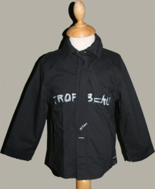 3Pommes overhemd zwart `Trop Beau` met dasje - maat 80 - JF19