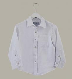 Little Linens wit linnen overhemd - maat 92 - LL39