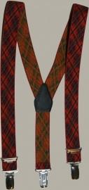 Bretels - rood geruit - maat baby/kleuter - DF