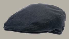 Pet 'Edward' Denim Blue - flat cap - denim blauw - maat 60/61 - CTH Ericson