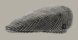 Pet 'Philip Glencheck Brown` - cap met oorflappen - bruin pied-de-poule - maat 46/48/50/52/56 - CTH Mini