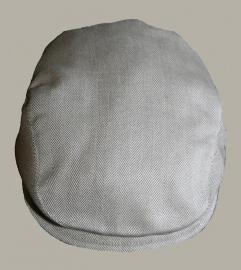 *Pet  `Jonas` beige visgraat - newborn baby flat-cap - nieuw - maat 36-38 en 40-42 - ClassyBoy