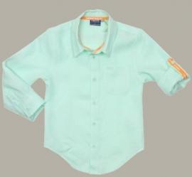 Vinrose pastelgroen linnen overhemd 'Boris' Honeydew - maat 152 - VR42
