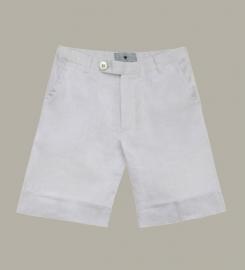 Little Linens wit linnen bermuda shorts - maat 110/116 - LL45