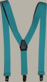 Bretels - aqua blauw - maat kind - 85 cm.