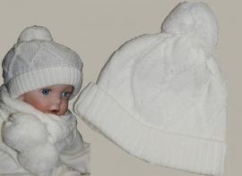 Juppalà winter muts – crème wollen gebreid – maat 36 - JP120-123