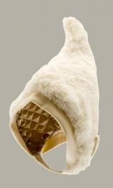 Muts 'Alva' - bontmuts off-white - maat 46/48 - CTH Mini