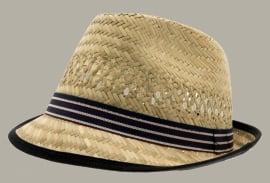 Fedora hoed 'Chris Jr.' Natural Straw - maat 49/51/53/55 - CTH Mini
