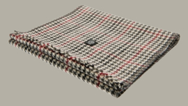 Shawl 'Edgar Dogtooth Black-Wine' - one size - wollen shawl - CTH Eriscon