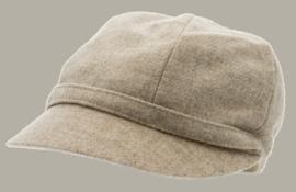 Muts 'Helena Melton Shetland Beige' - beige wollen hoedje voor dames - maat 59 - CTH Ericson