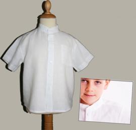LinenKids wit granddad overhemd -maat 104 - LK93-94