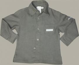Cloggies Childwear antraciet linnen overhemd 'Fabian' - maat 116 - CLG01