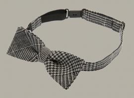 Bow-Tie 'Knut Jr.' Glencheck Black - vlinderstrik - CTH Mini
