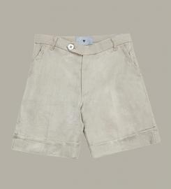 Little Linens 'Sand' linnen bermuda shorts - maat 80 - LL41