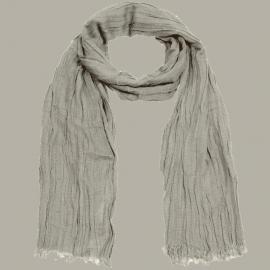 Shawl 'Job' taupe/lichtbruin - handgeweven viscose/linnen - FI