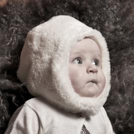 Muts 'Birgitta' - muts faux fur  - wit - maat 44 - CTH Mini