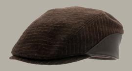 Pet 'Hadar Pinstripe Brown' - duckbill cap bruin gestreept - maat 59/61 - CTH Ericson
