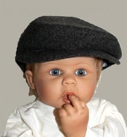 Pet  `Jonas` bruin tweed - baby flat-cap - maat 40-42 - ClassyBoy
