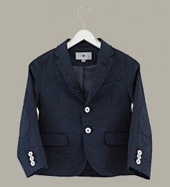 Little Linens 'Midnight Navy' linnen donkerblauwe blazer - maat 110/116 - LL47