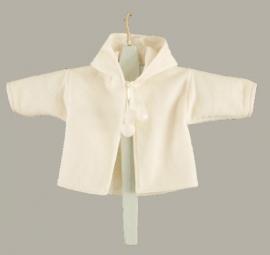 Arsa Baby jasje `Casper` - doopjasje - ecru wollen fleece cape - maat 68 - AR01A