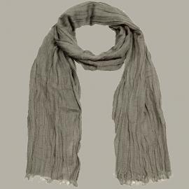Shawl 'Job' bruin - handgeweven viscose/linnen - FI