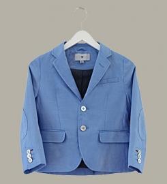 Little Linens 'Heritage Blue' linnen blauwe blazer - maat 110/116 - LL51