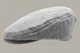 Pet `Viktor` Glencheck Marin - flat-cap - blauw geruit - maat 60 - CTH  Ericson