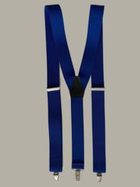Bretels - marineblauw - smalle clips - maat 134 t/m volwassen maat