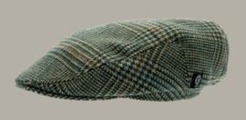 Pet 'Philip Glencheck Green` - cap met oorflappen - groen pied-de-poule - maat 46/48/56 - CTH Mini