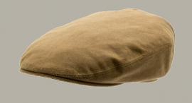 Pet 'Neil Waxed Cotton Camel' - flat-cap met oorflappen - camel bruin - maat 48/52/54 - CTH Mini