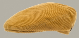 Pet 'Philip Corduroy Mustard' - flat-cap - met oorflappen (t/m mt 56) - geel rib - maat 46/48/59 - CTH Mini