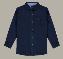 Vinrose overhemd 'Jaxon' navy donkerblauw - maat 122/128 - VR96