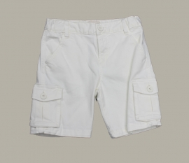 Jan van Trier cargo short - wit - maat 116 - JT15