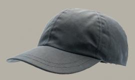 Cap 'Ben Waxed Cotton Marin' - baseball cap met oorflappen donkerblauw - maat 46/48/50/52/54/56/58/60 - CTH Mini