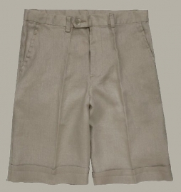 Little Linens 'Wheat' zand linnen bermuda shorts - maat 134 - LL09