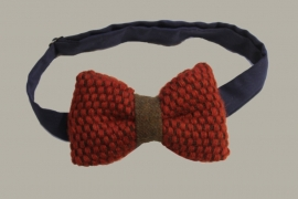 Bow-Tie 'Red Wool' Vintage - rood wollen vlinderstrik - kindermaat