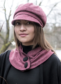 Shawl 'Molly Jersey Angora Wine' - bordeaux rode omslag shawl voor dames - CTH Ericson
