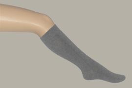 Bonnie Doon kniekous effen lichtgrijs - maat 19 t/m 38 - BD03