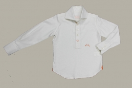 Jan van Trier linnen granddad hemd Beach - wit - maat 128 - JT09
