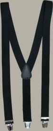 Bretels - zwart - brede clips - maat 134 t/m volwassen maat - EL