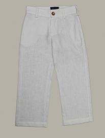 Jan van Trier linnen broek - wit - maat 116 - JT03