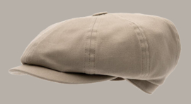 Pet `Gordon` Mono Kakhi - newsboy cap - beige/zand - maat 46/54/56 - CTH Mini