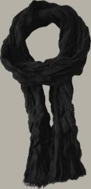 Shawl 'Twan' zwart - handgeweven polyacryl - FI