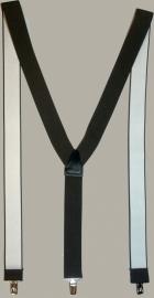 Bretels - bruin - smalle clips - maat 134 t/m volwassen maat