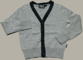 Vinrose vest `David` - grijs gemêleerd - maat 134 - VR25
