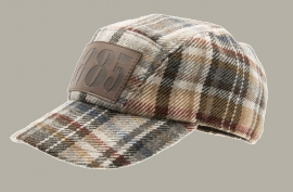 Cap 'Nick Plaid Red/Blue - baseball cap geruit met oorflappen - maat 50/52/54/59 - CTH Mini
