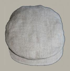 *Pet  `Jonas` naturel linnen - newborn baby flat-cap - nieuw - maat 36-38 en 40-42 - ClassyBoy