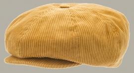 Pet `Olle Corduroy Mustard` - newsboy cap - geel rib - maat 56/58 - CTH Ericson